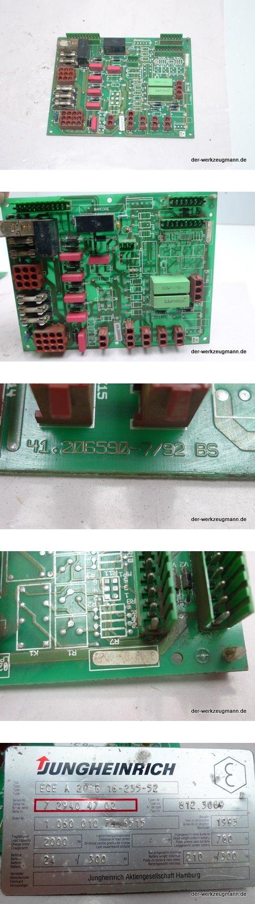 Jungheinrich Einbaukarte 41.206590-7/92 BS für Stapler ECE 20