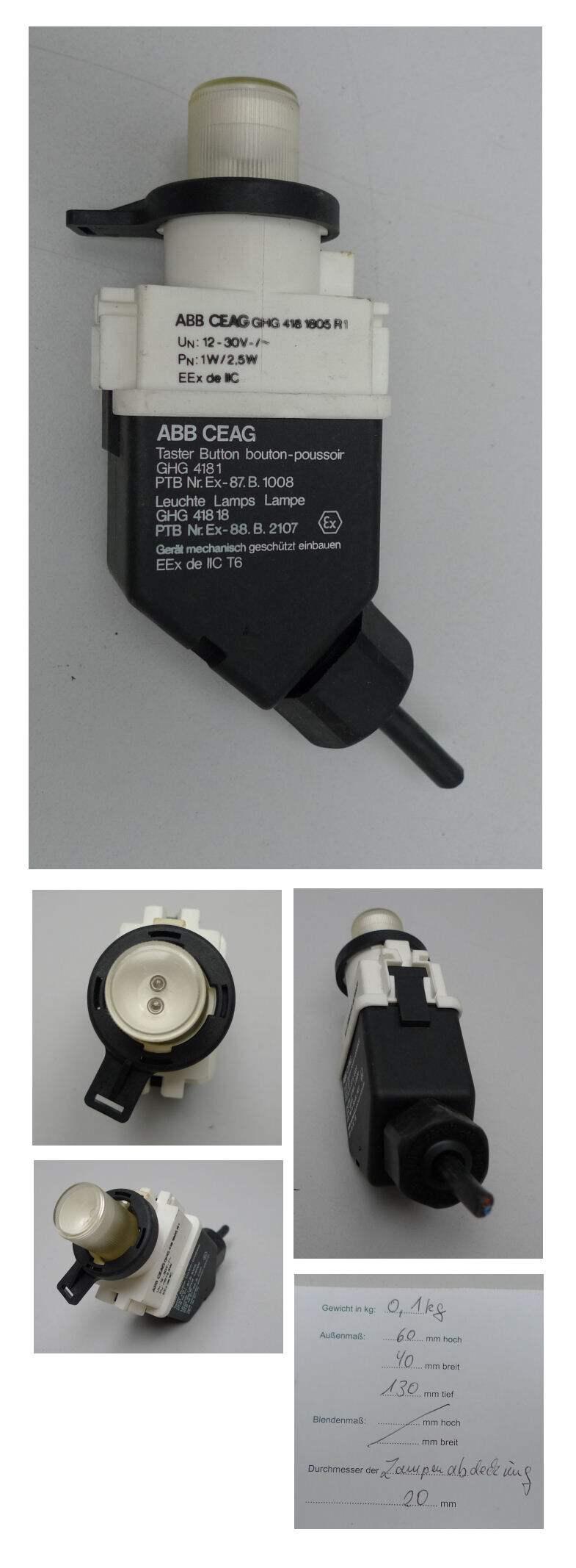 ly73 abb ceag ex ghg 418 1805 ghg418 18 lampe strahler. Black Bedroom Furniture Sets. Home Design Ideas