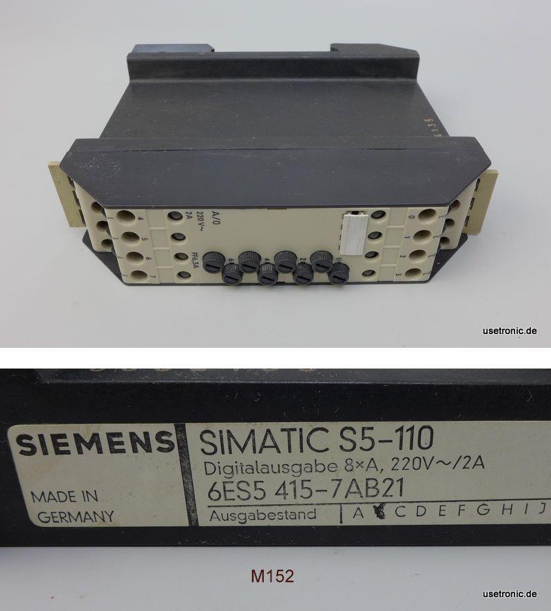 Siemens Simatic 6ES5 415-7AB21 6ES5415-7AB21
