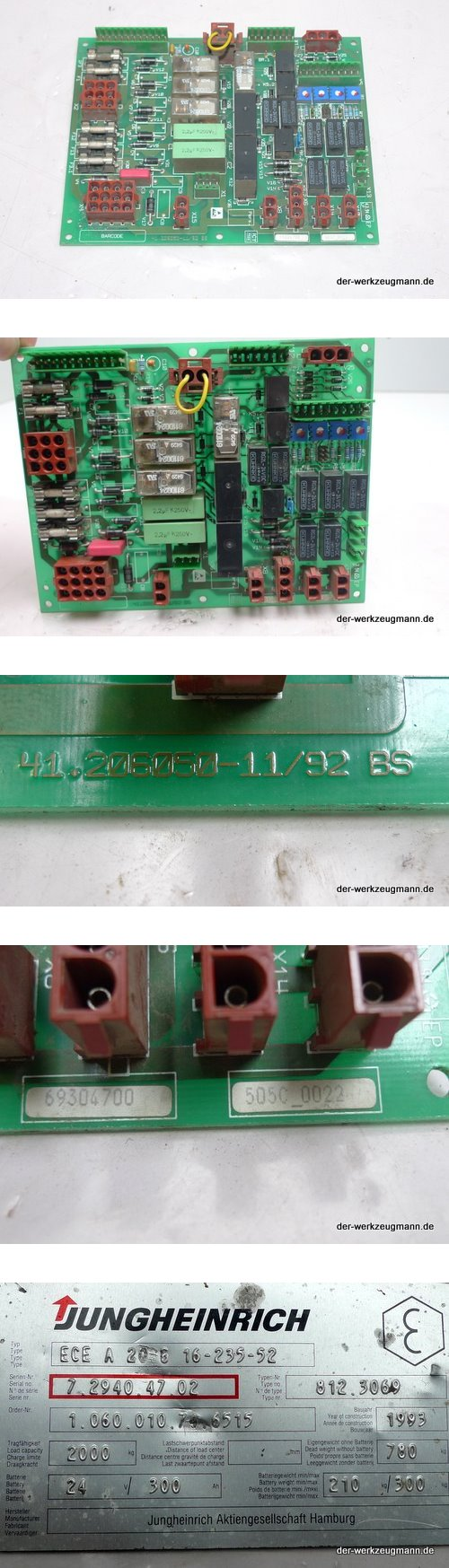 Jungheinrich Elektronik 41.206050-11/92 BS Stapler ECE 20