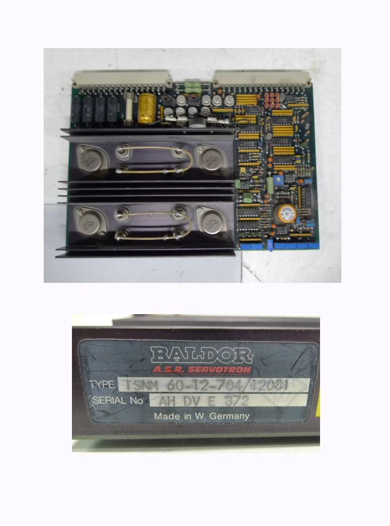 Baldor A.S.R. ASR  TSN 60-12-704