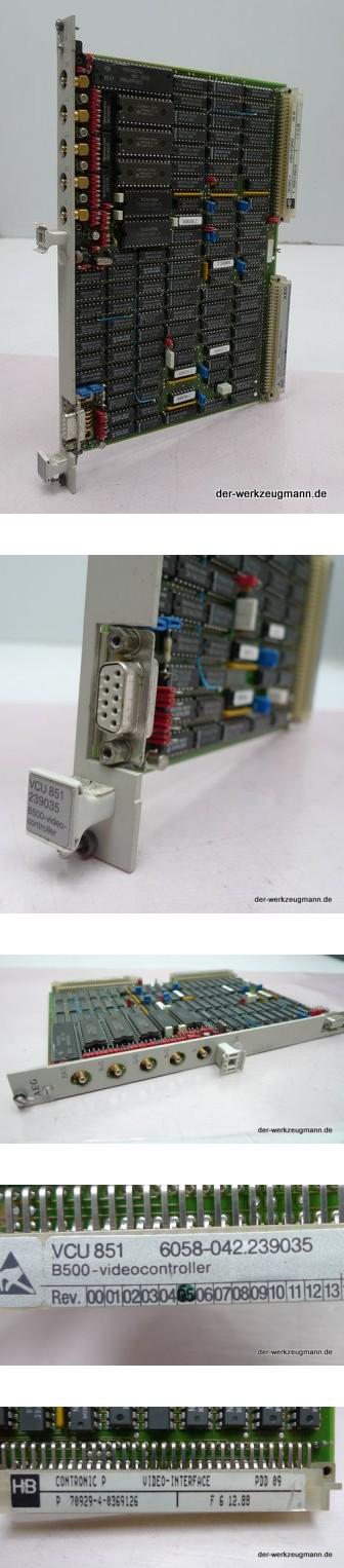 AEG SPS Modul VCU 851 6058-042.239035 B500 Video