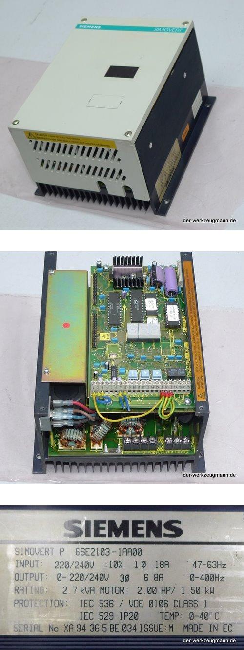 Siemens Simovert P Frequenzumrichter 6SE2103-1AA0 240V 1,5 kW