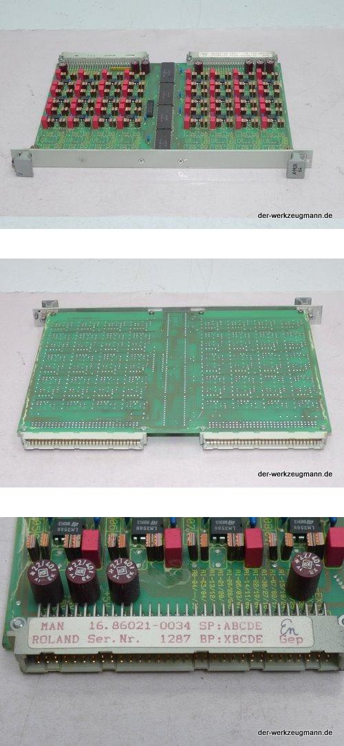 MAN Roland A-MUX 64 Einbaukarte 16.86021-0034 ManRoland