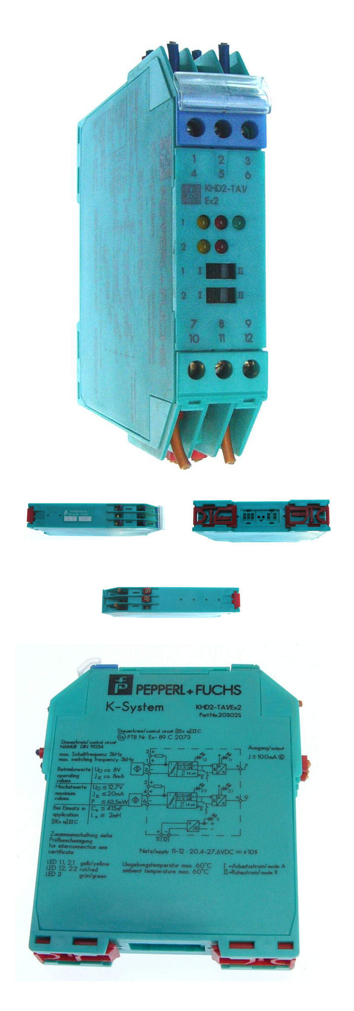 Pepperl Fuchs Trennschaltverstärker KHD2-TA1/Ex2