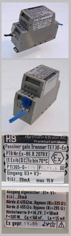 Hartmann & Braun galv. Trenner TET30 EEx ex