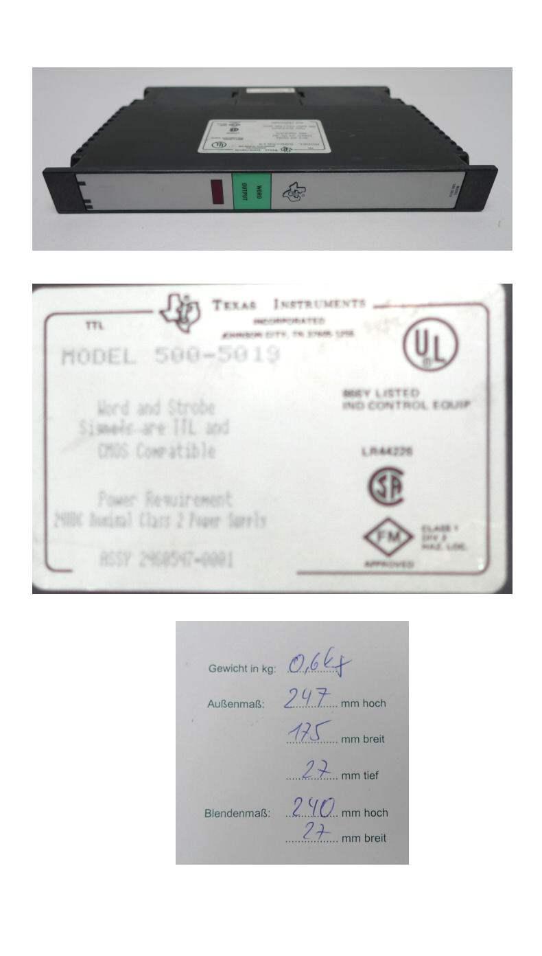 Texas Instruments 500-5019 5005019 Word Input