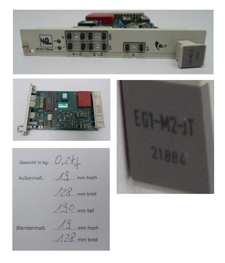 Pepperl Fuchs EG1-M2-JT Frequenz-Strom-Umsetzer