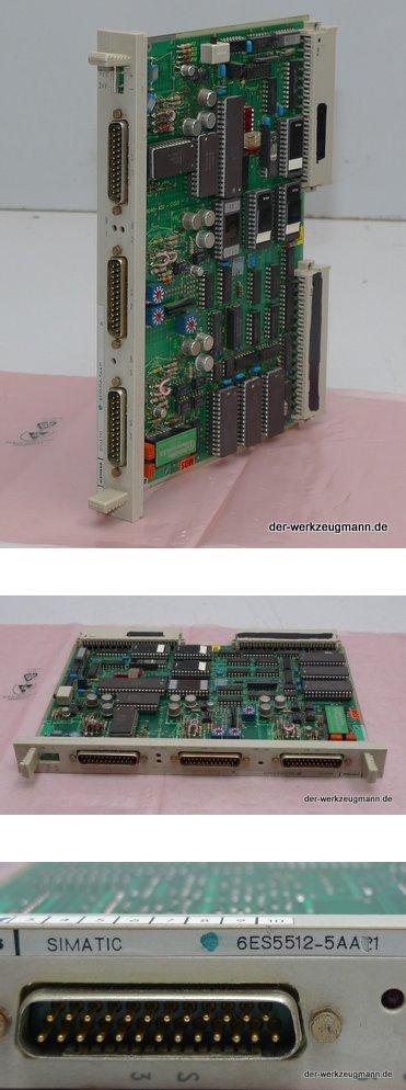 Siemens 6ES5512-5AA21 6ES5 512-5AA21