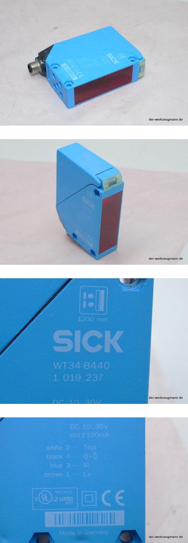 Sick Reflexlichttaster Lichtschranke WT34-B440 1019237 WT-34