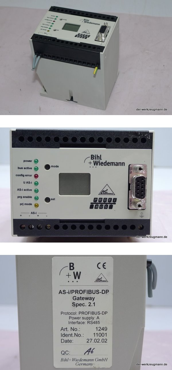 Bihl Wiedemann BW-1249 AS-i Profibus-DP Gateway BW1249 Eurodrive