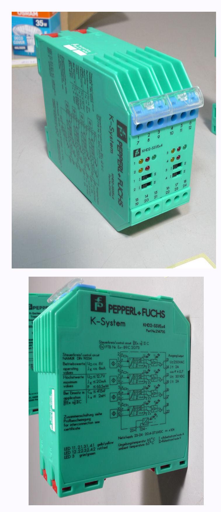 Pepperl Fuchs khd2-ss1/ex4 KHD2 21473S Messwertverstärker