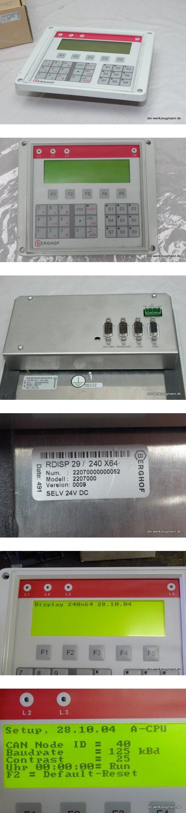 Berghof Display Panel RDISP 29 / 240 X64 24V DC 2207000