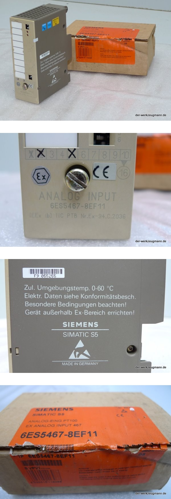 Siemens Simatic S5 SPS 6ES5467-8EF11 6ES5 467-8EF11