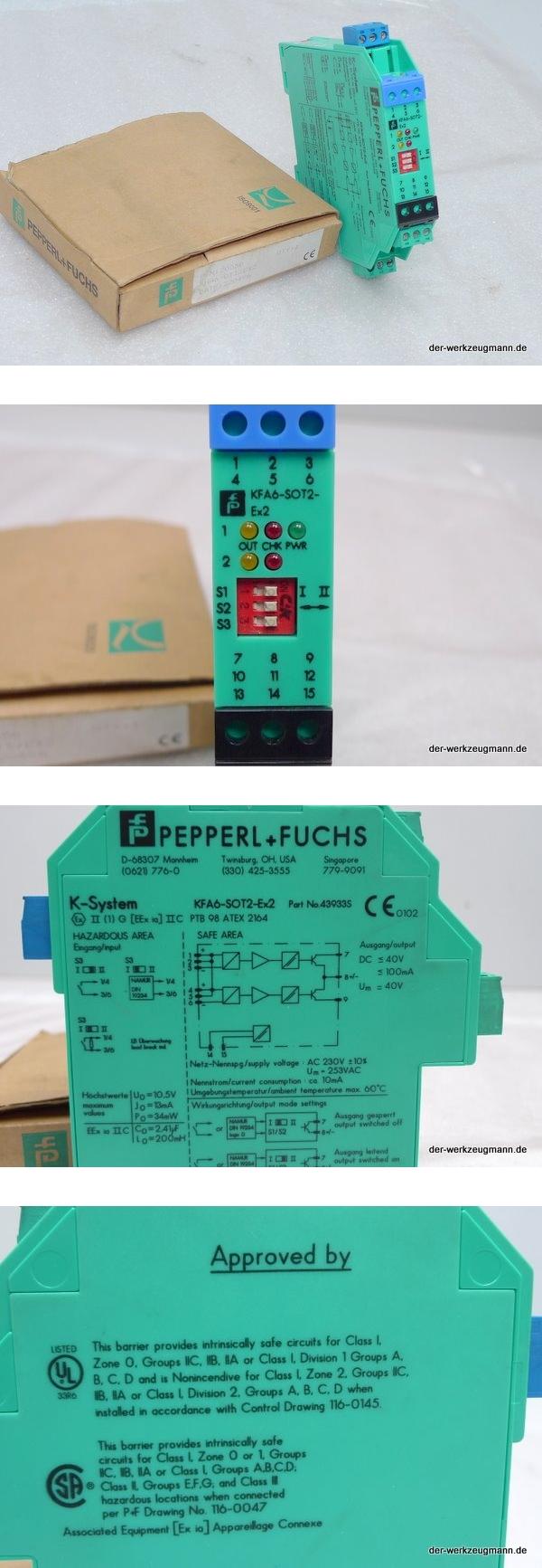 Pepperl Fuchs KFA6-SOT2-Ex2 Schaltverstärker 43933S