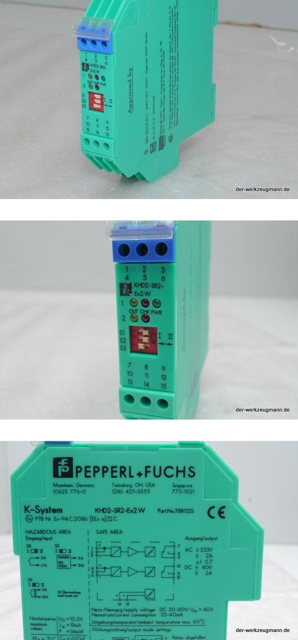 Pepperl Fuchs KHD2-SR2-Ex2.W Schaltverstärker 33802S