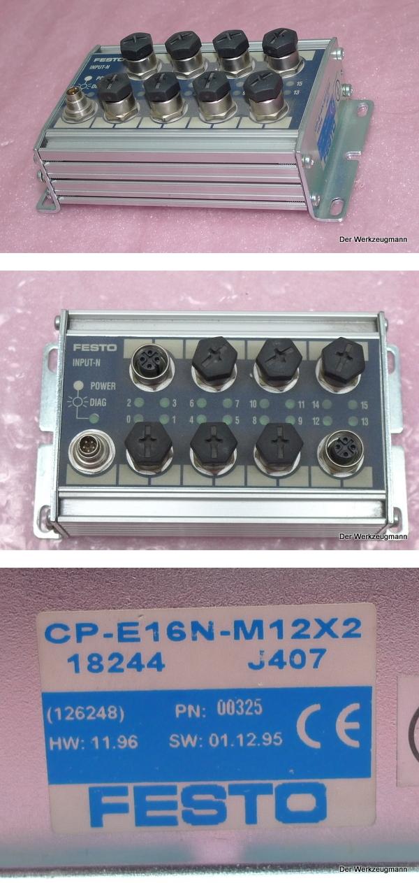 Festo Eingangsmodul CP-E16N-M12X2 18244 J407 126248
