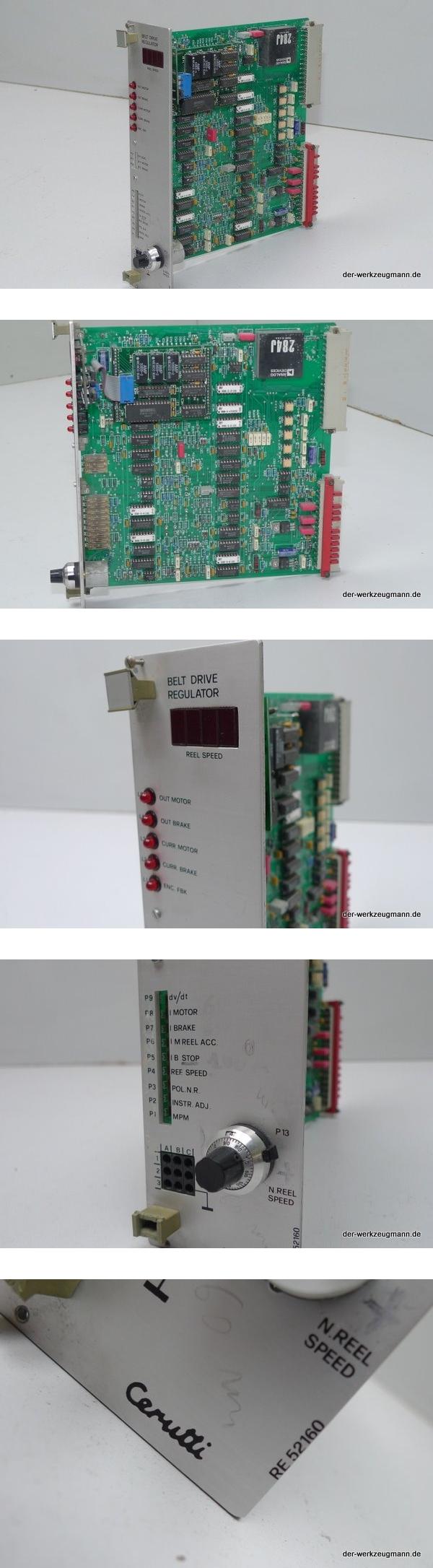 Cerutti RE-52160 Belt Drive Regulator für Cerutti Druckmaschinen