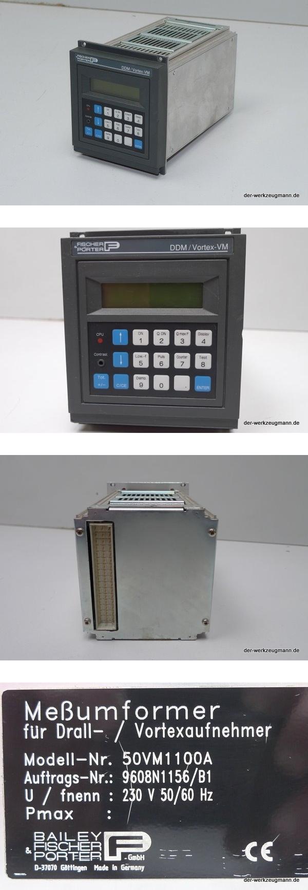 Bailey Fischer Porter DDM / Vortex-VM Meßumformer 50VM1100A