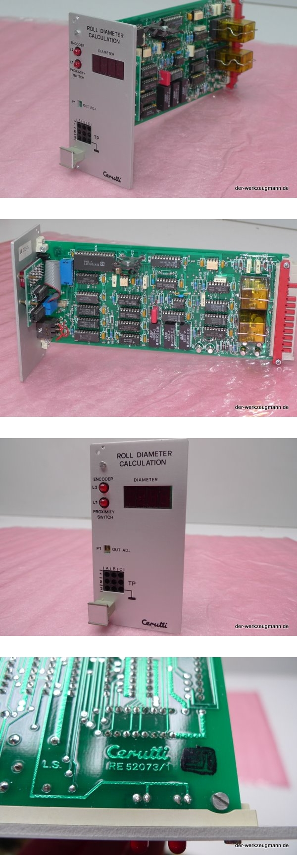 Cerutti RE-52073/1 Roll Diameter Calculation