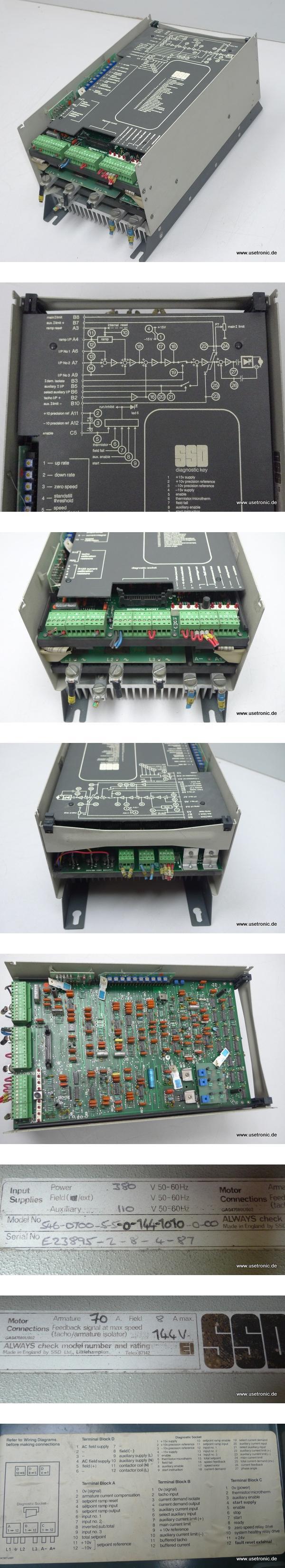 SSD Parker Controller 546-0700-5-5-0-144-1010-0-00 380V 70A