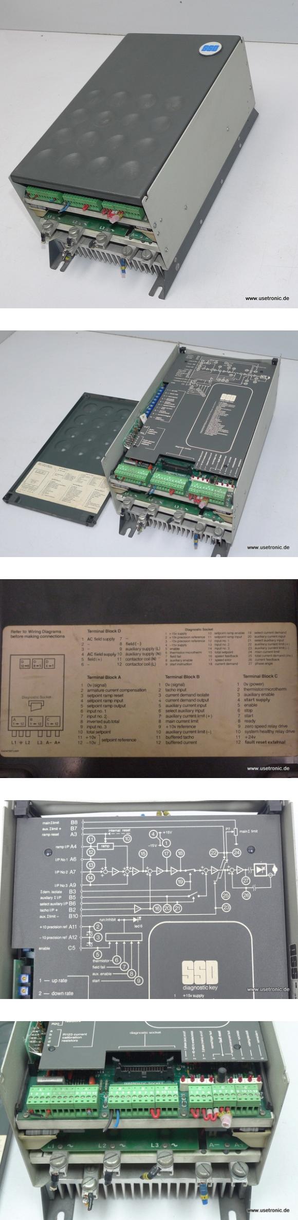 SSD Frequenzumrichter 546-0350-5-2-3-061 380V 35A