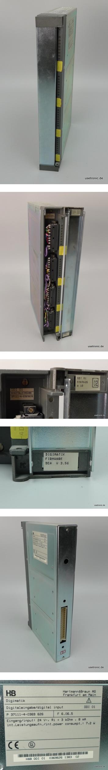 Hartmann Braun Digimatik Digital In SPS P-37111-4-0369-626 DDI-01