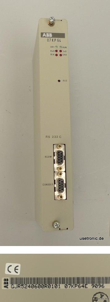 ABB Procontic T200 Communication Processor 07KP64 GJR5240600R0101