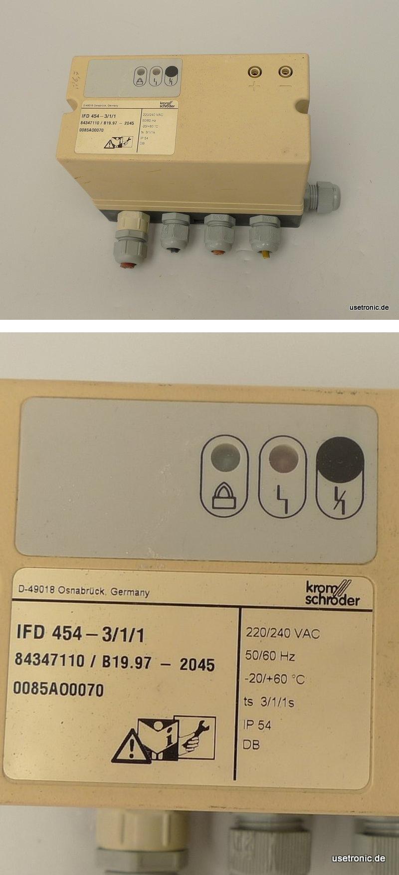 Kromschröder IFD-454-3/1/1 84347110
