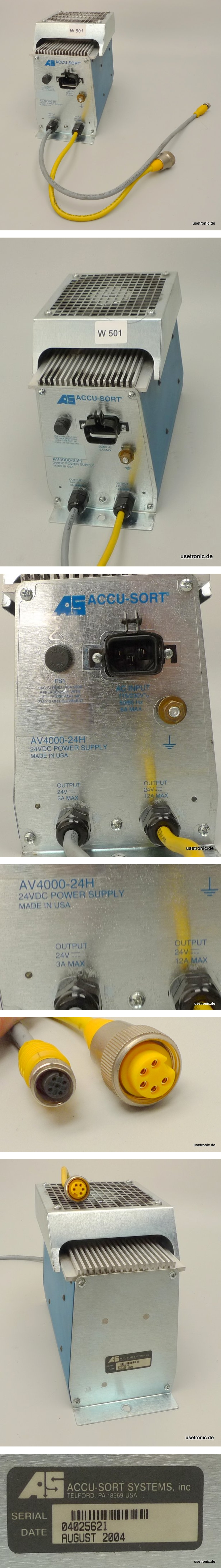 AS Accu-Sort AV4000-24H Power Supply 24V Stromversorgung