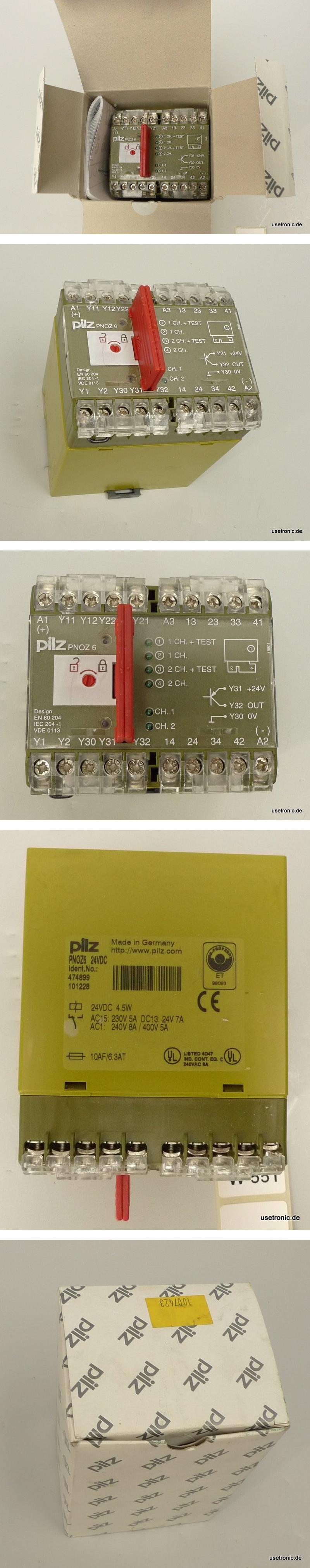 Pilz Not Aus Relais PNOZ6 24V DC 474899