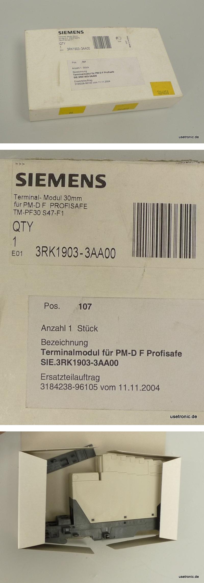 W573 Siemens Terminalmodul 30mm 3RK1903-3AA00 4011209536920