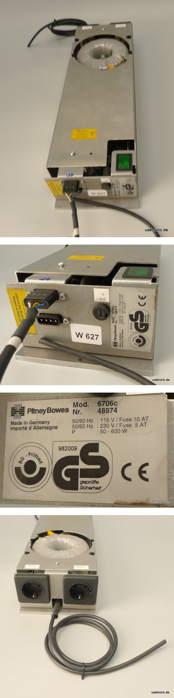 Pitney Bowes Trafo Stromversorgung 6706C power Supply