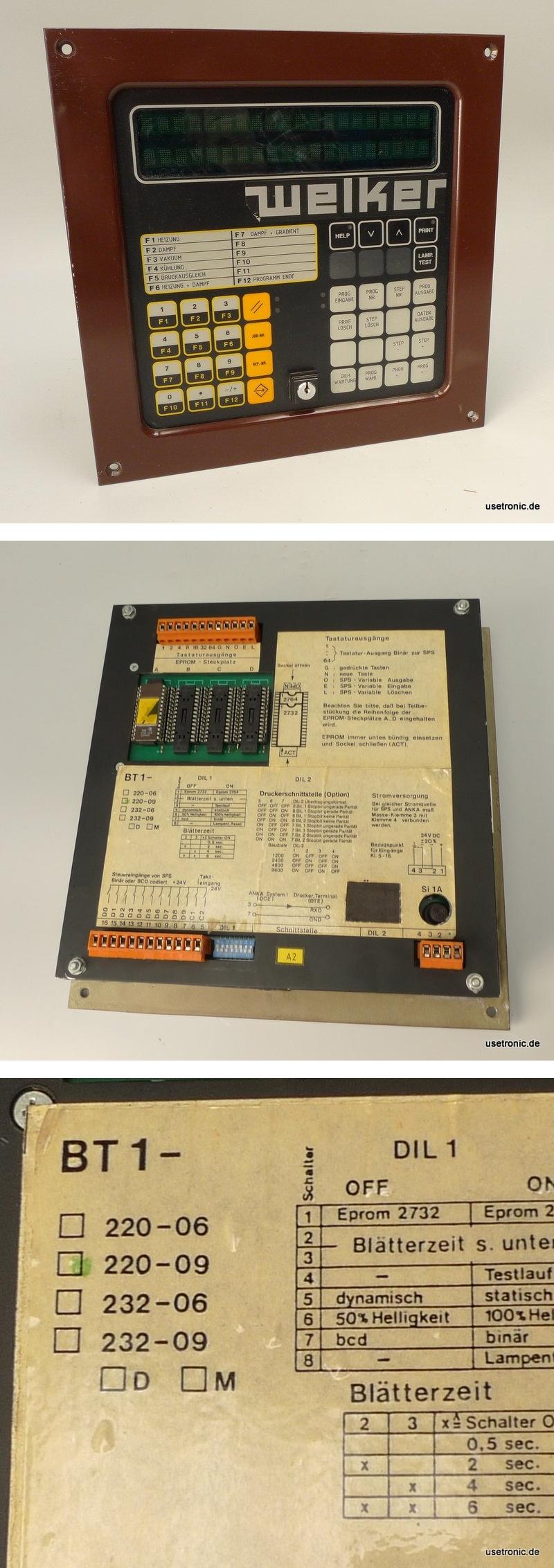 Welker BT1-220-9 Wöhrle Panel Bediengerät Eingabegerät