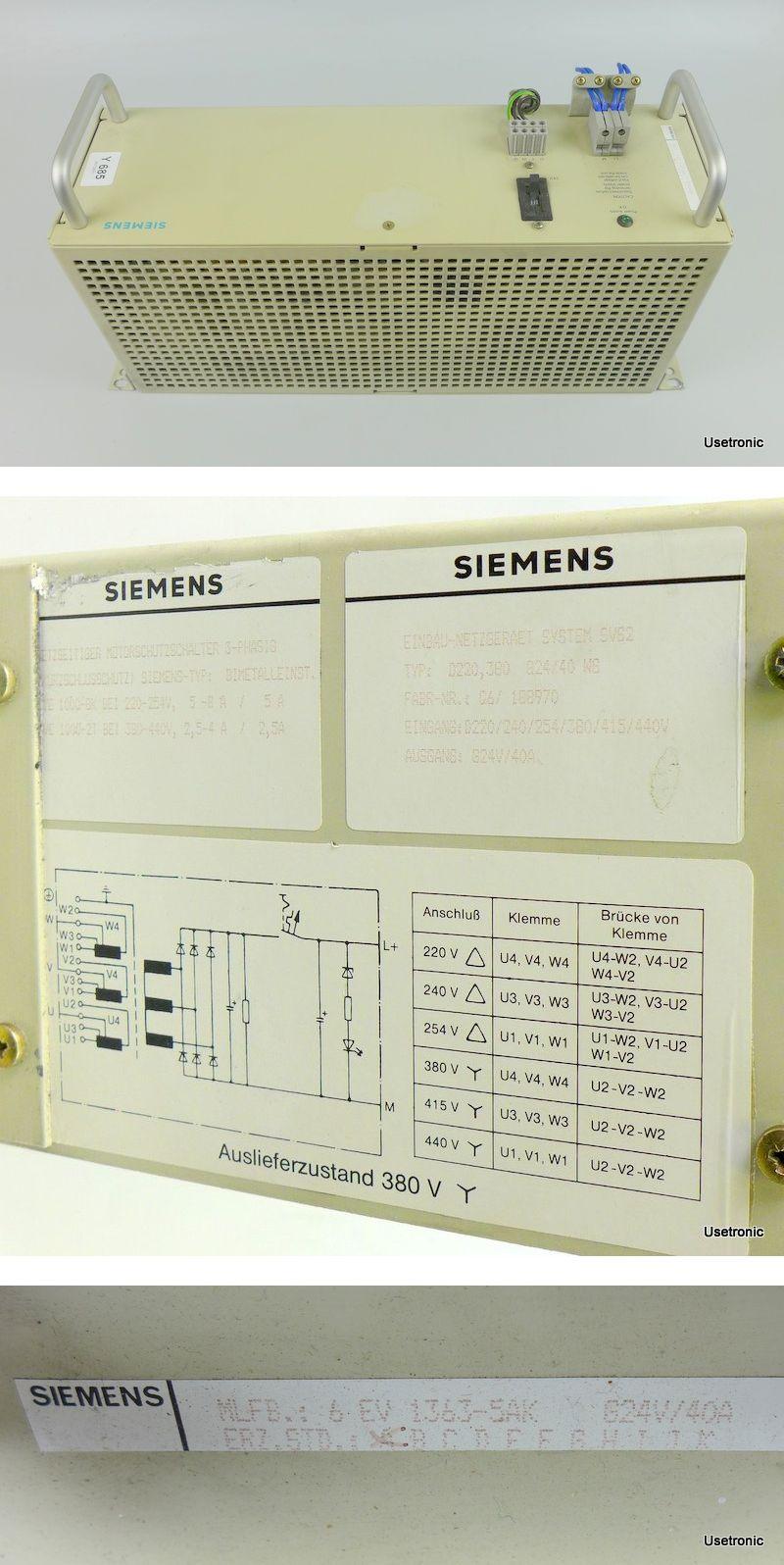 Siemens Netzgerät 6EV1363-5AK 24V 40A