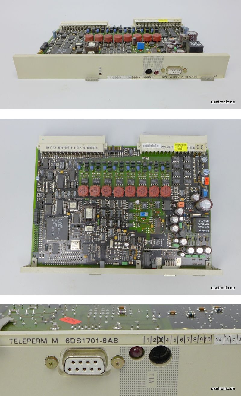 Siemens Teleperm M 6DS1701-8AB 6DS 1701-8AB