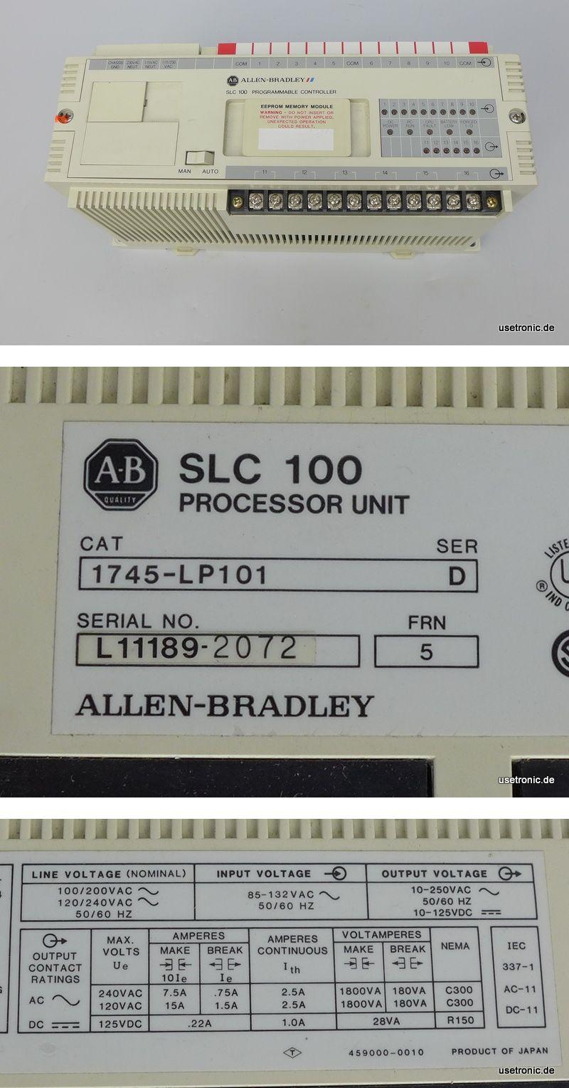 Allen Bradley SLC 100 Controller 1745-LP101