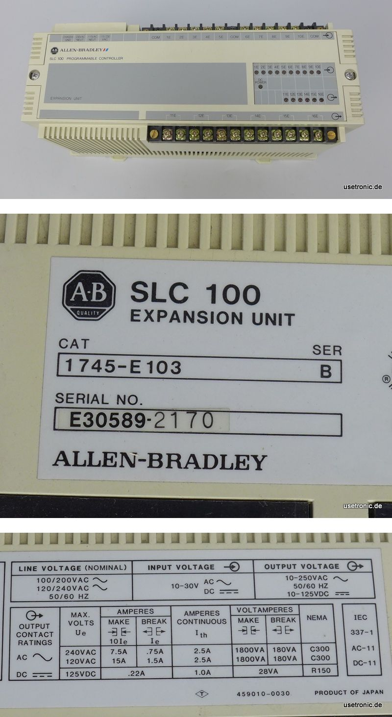 Allen Bradley SLC 100 Expansion Unit 1745-E103