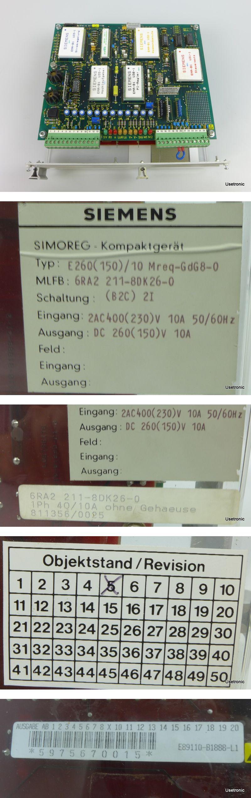 Siemens Simoreg E260(150)10Mreq-GdG8-0 6RA2211-8DK26-0