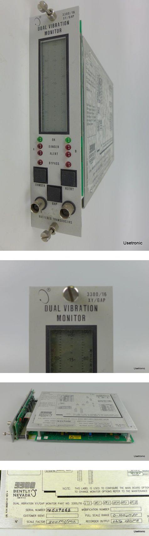 Bently Nevada Dual Vibration Monitor 3300/16 XY/GAP