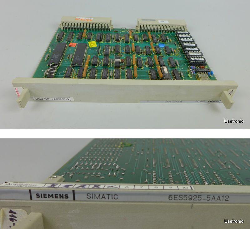 Siemens 6ES5925-5AA12 6ES5925-5AA12