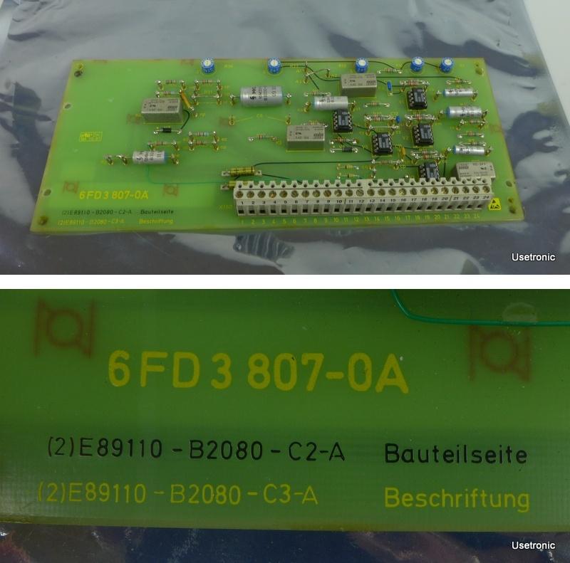 Siemens 6FD3 807-0A E89110-B2080-C2-A