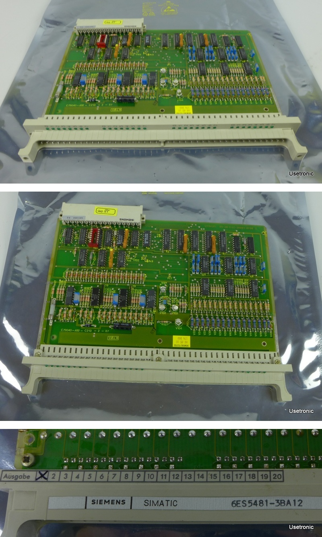 Siemens S5 6ES5481-3BA12 6ES5 481-3BA12