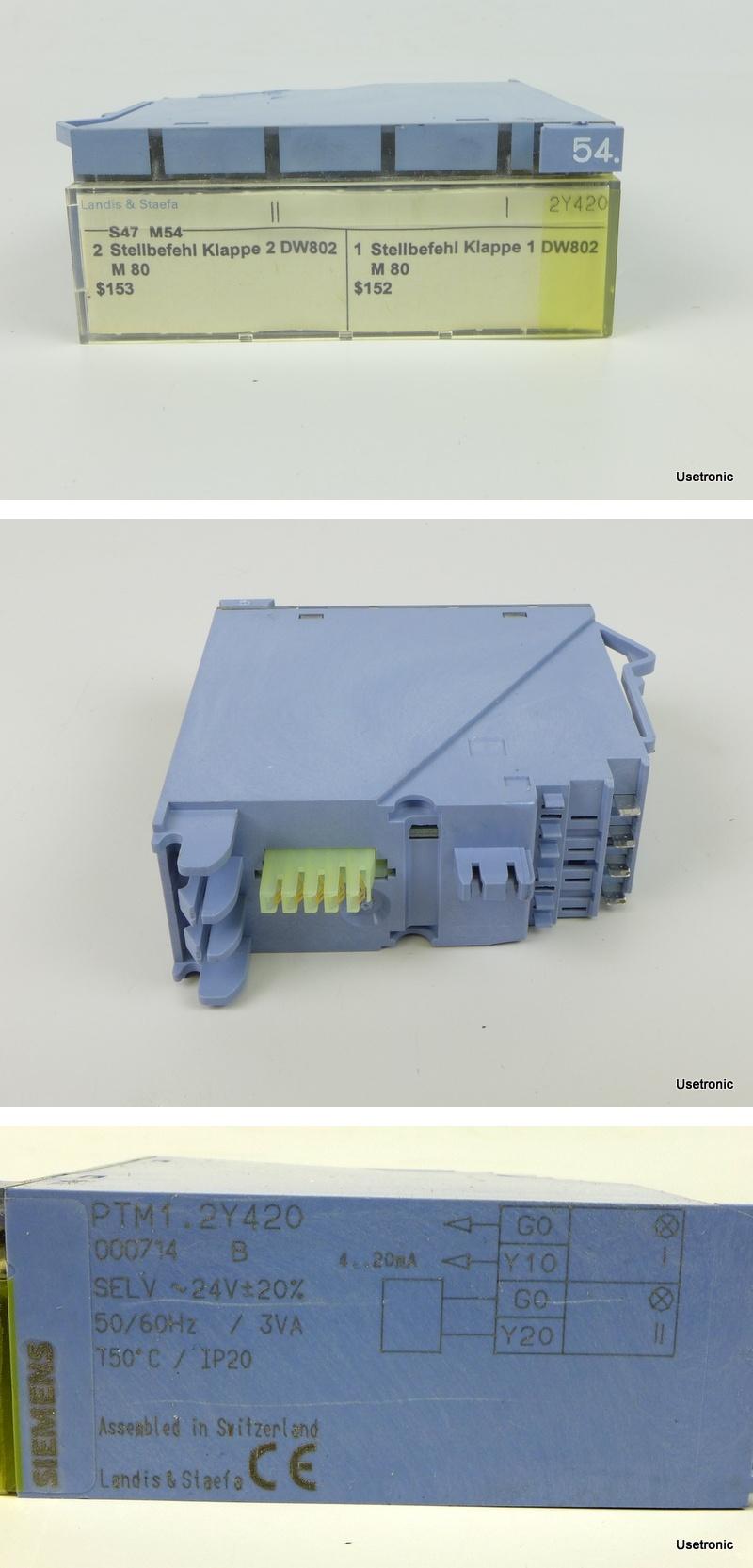 Siemens Landis Staefa PTM1.2Y420