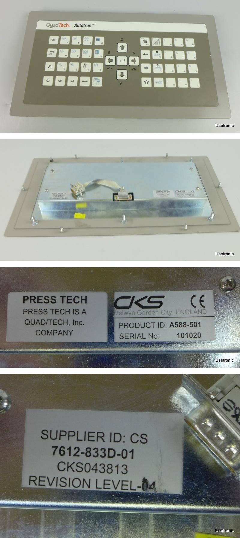 QuadTech Presstech Autotron Panel 7612-833D-01