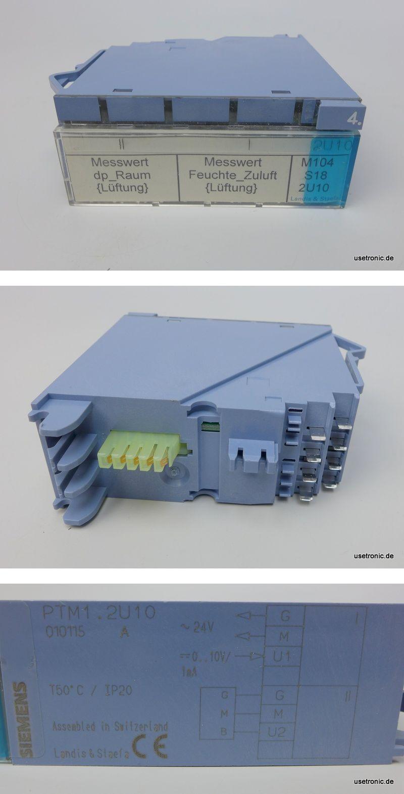 Siemens Landis Staefa Messwert  PTM1.2U10
