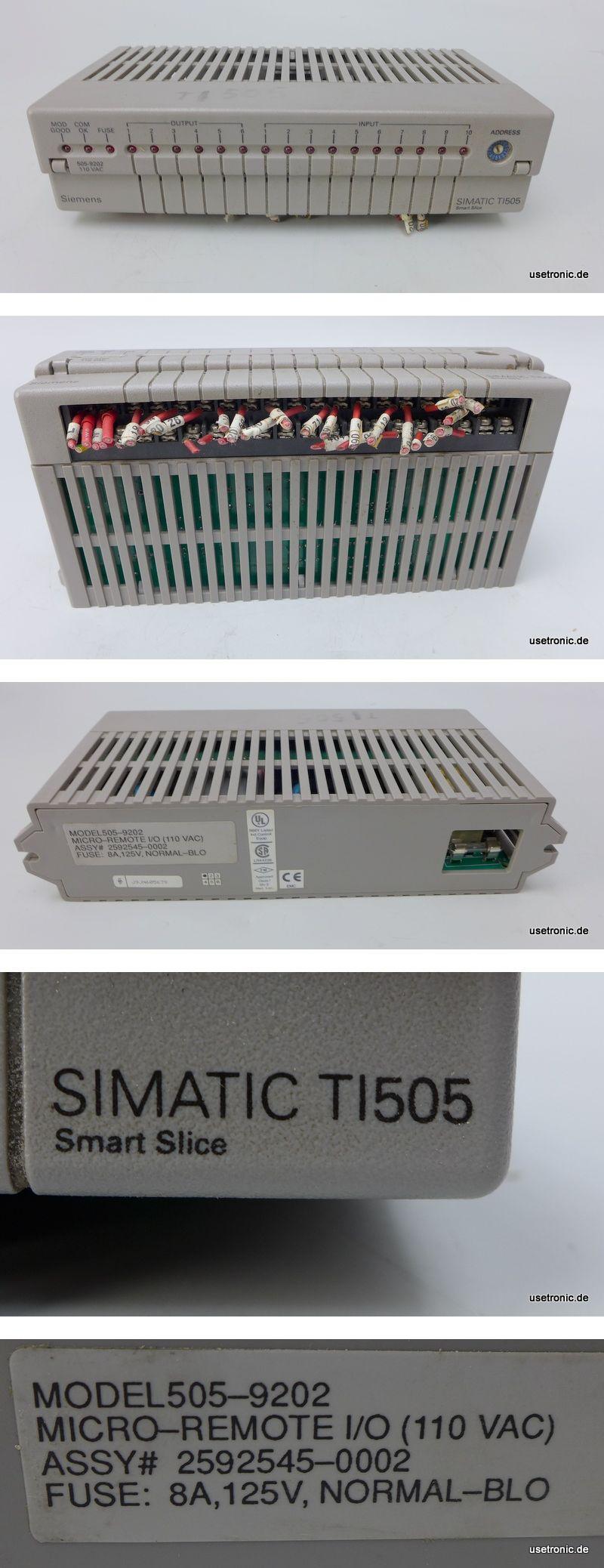Siemens Simatic TI505 505-9202 Micro Remote
