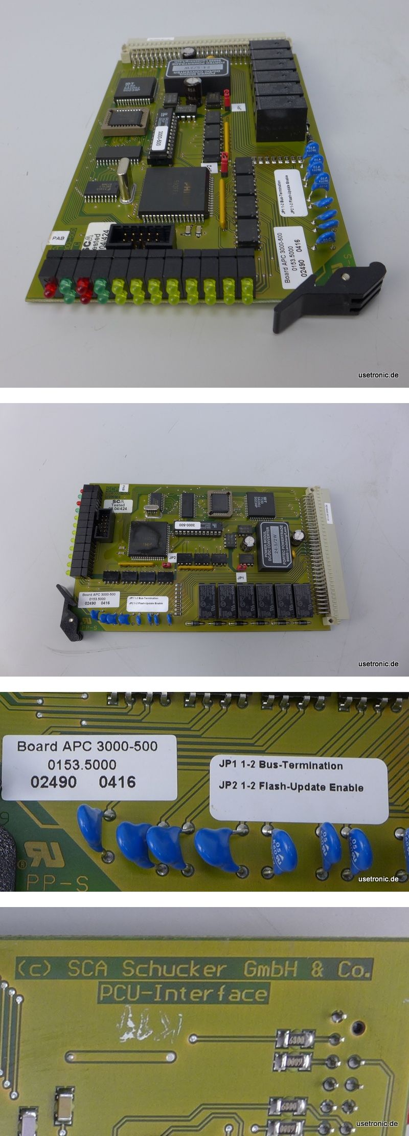 SCA Schucker Board APC 3000-500 PCU Interface 0153.5000
