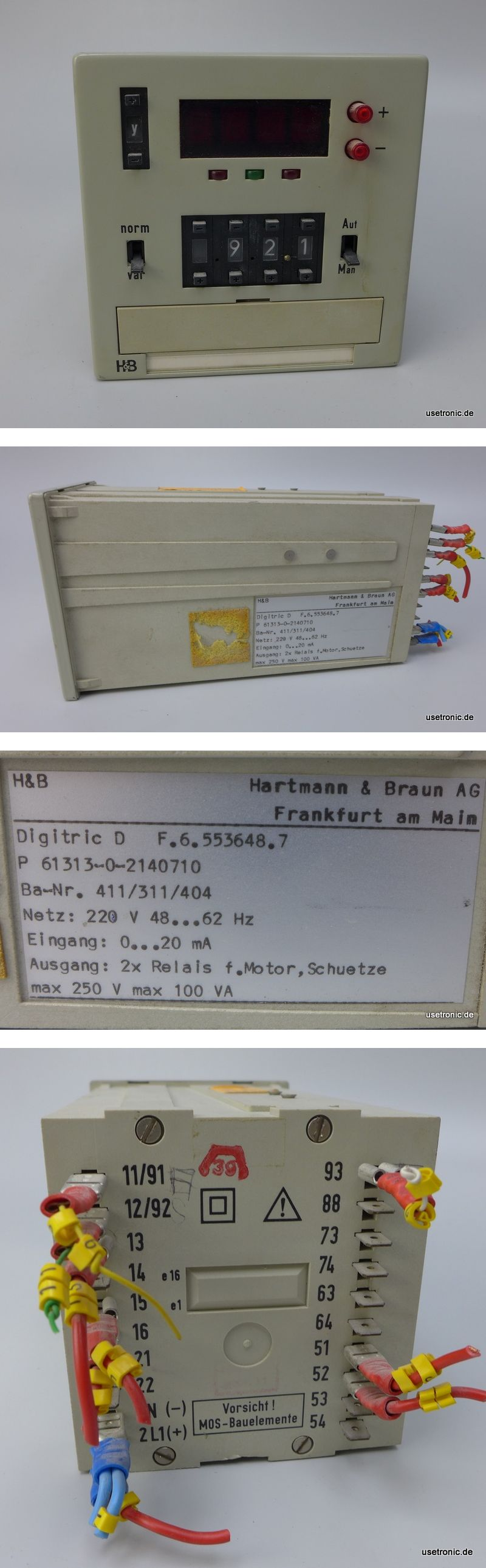 Hartmann Braun Digitric D F.6.553648.7