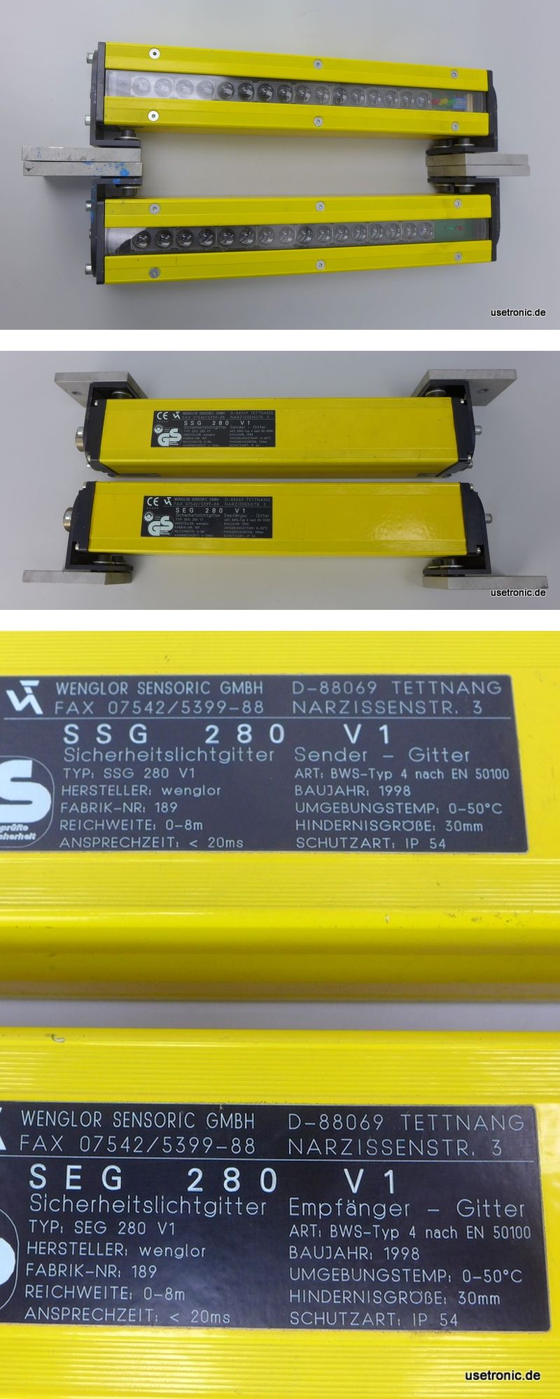 Wenglor Sensoric Sender u Empf. SEG280V1 SSG280V1